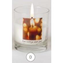 Gedenkkaarsen in glas - Lichtje voor jou