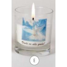 Gedenkkaarsen in glas - Vrede en alle goeds