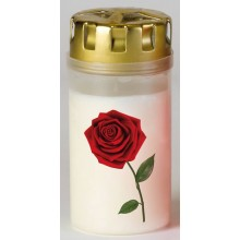 Graflicht 13cm. Single red rose