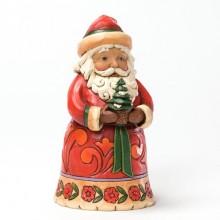 Kerstman met denneboompje