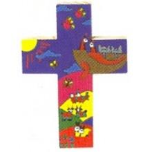 Houten kruisje met afbeelding Ark van Noach